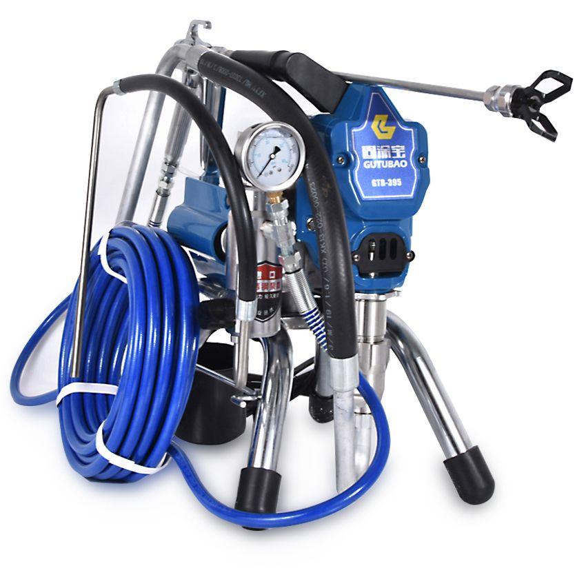 395 Professional Airless Paint Sprayer High Pressure Airless Spray Gun Airless Electric Painting Machine Spraying 220V 50Hz