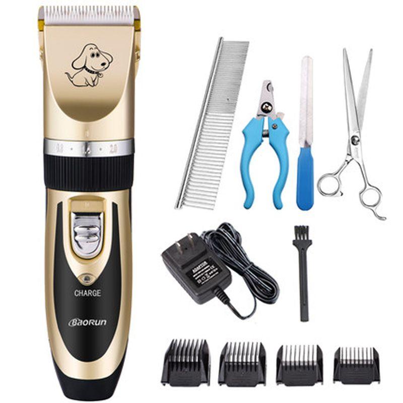 Kit de toilettage tondeuse pour animaux de compagnie Rechargeable chat chien électrique tondeuse rasoir ensemble coupe de cheveux Machine rasage professionnel