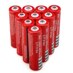 GTF 1-10pcs 18650 Lithium Batteria 3.7V 4000mAh 18650 Rechargeable Battery for Laser Pen Light Flashlight with EU 18650 Charger