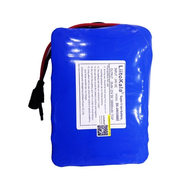 HK LiitoKala 24V 10Ah 7S5P 18650 Battery li-ion battery 29.4v 8000mAh electric bicycle li-ion wheelchair battery pack for 250w