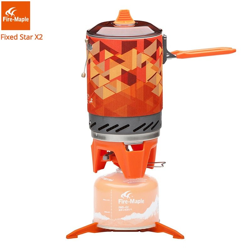 Fire Maple X2 Tourist Gas Burners Portable Camping Gas Stove Pot Set Outdoor Cooking System FMS-X2 Hiking Backpacking Gas Cooker