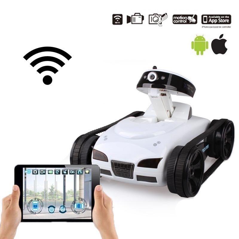 FPV iSPY WIFI Real-time Transmiss Mini RC Tank HD Camera Video Remote Control Robot Car Intelligent IOS Anroid APP Wireless Toys
