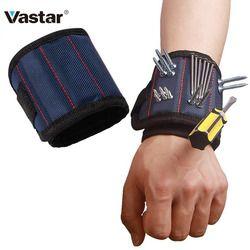Vastar магнитный браслет из полиэстера, портативный электроинструмент, наручный инструмент, ремень, саморезы, держатель мелких предметов, инс...
