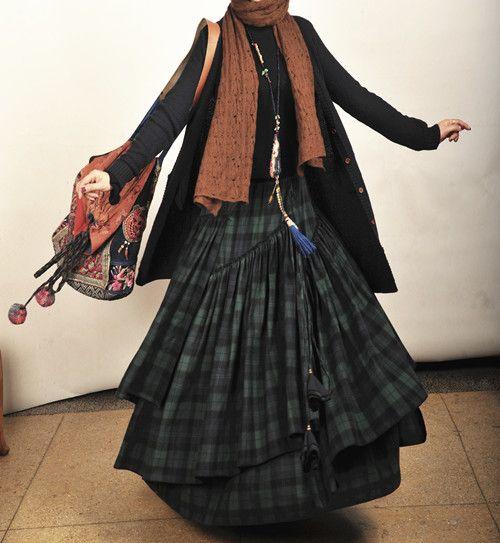 Модная длинная клетчатая Юбки для женщин женские толстые хлопчатобумажные зимние Юбки для женщин saias Юбки для женщин