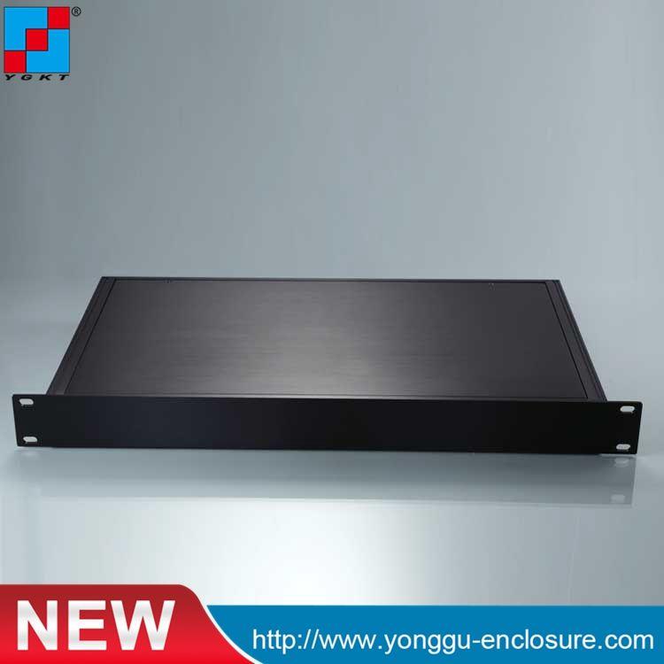 19 zoll 1u elektronische gehäuse/wandmontage typ anschlussdose/kühlkörper aluminium fall/schaltkasten/aluminium box