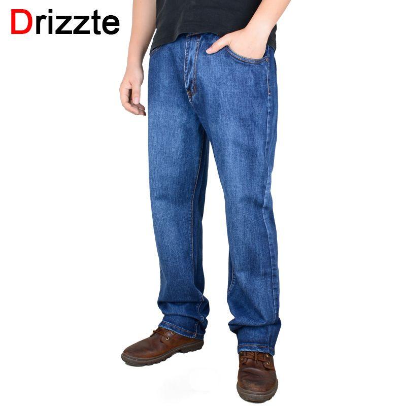 Drizzte бренд Для мужчин большие Размеры Брюки для девочек 38 40 42 44 46 48 50 52 Для мужчин S Высокая растянуть большой и высокий большой брюк Джинсы дл...