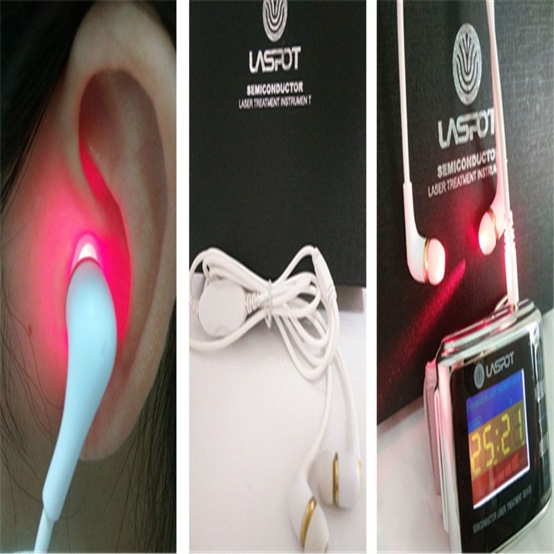 LASPOT 2018 Newest Cure Tinnitus Treatment Laser Watch Ear Probe Type Home Use Health Care Device Electronic Ear Protection