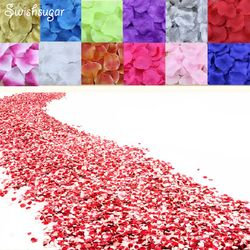 100pcs Silk Rose Petals Flower Leaves Petals Wedding Supplies Favor Party Decorations