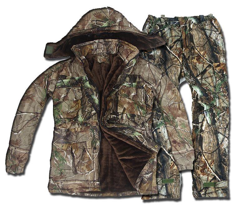 Taktische Winter Thermische Fleece Jagd Anzüge herren Wasserdichte Bionic Camouflage Kleidung Ghillie Anzug Camo Windjacke