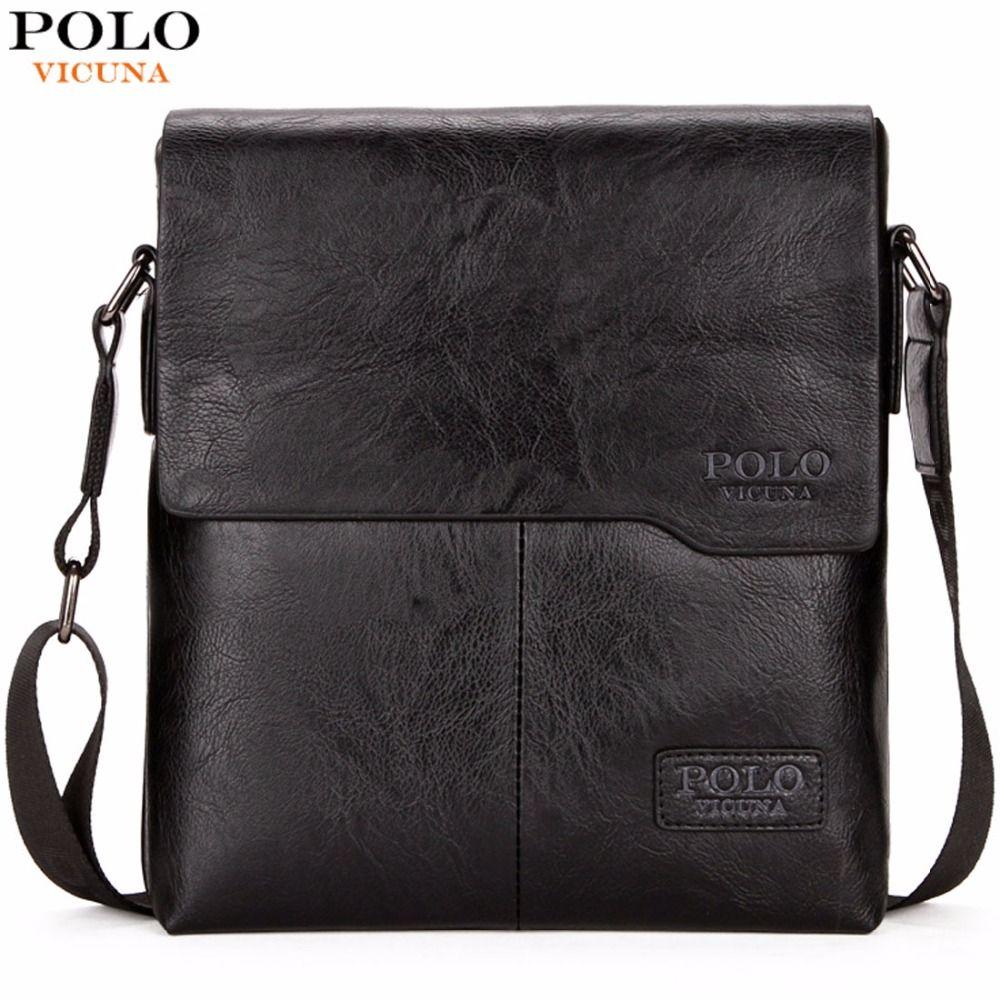 VICUNA POLO Men <font><b>Shoulder</b></font> Bag Classic Brand Men Bag Vintage Style Casual Men Messenger Bags Promotion Crossbody Bag Male Hot Sell