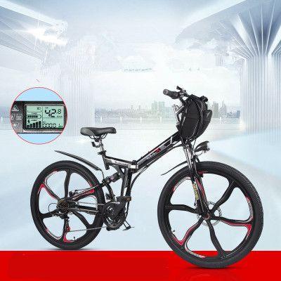 Hohe qualität 26 zoll elektrische fahrrad 48V350W klapp elektrische fahrzeug mountainbike lithium-batterie elektrische fahrzeug batterie