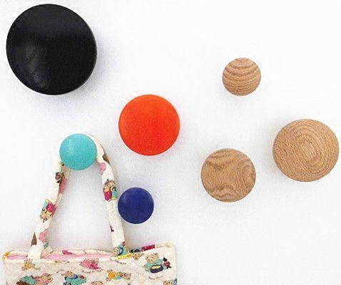 11 couleurs Bois manteau crochets Décorations Murales mur crochet Creative mur crochets cintre Bois punaise Main simple manteau crochet
