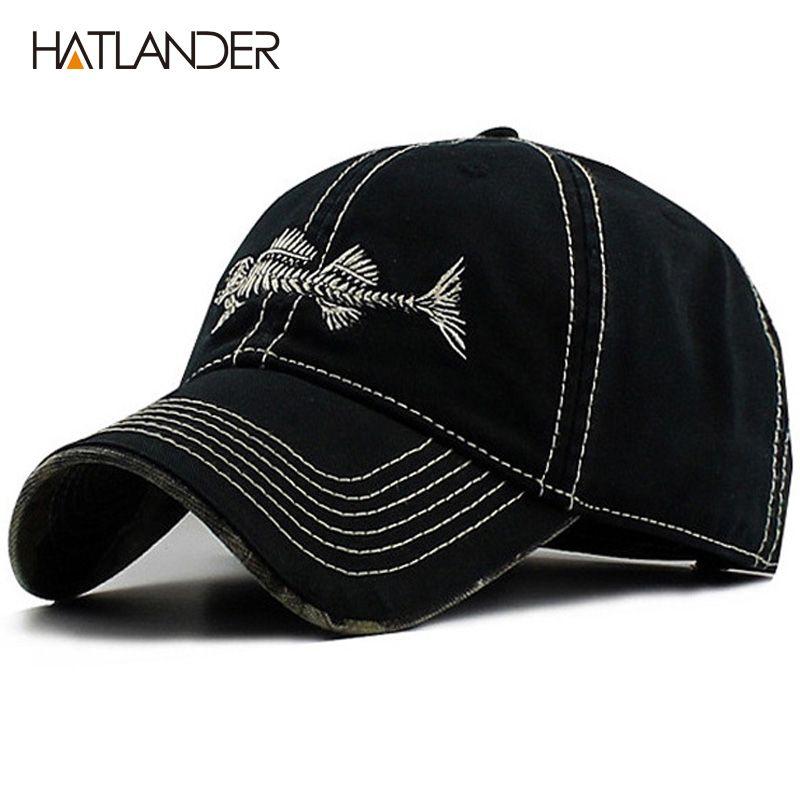 HATLANDER haute qualité coton lavé meilleure casquette underbill camo fishmen casquette de baseball réglable bonne casquette et pour hommes et femmes