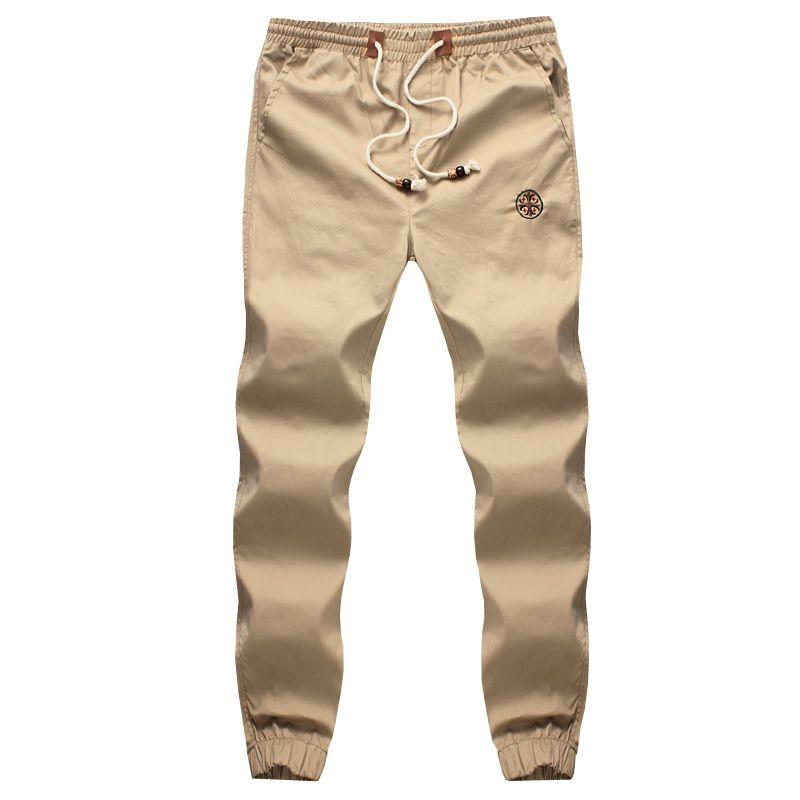 Новая мода шнурок Для мужчин Брюки для девочек Высокая Качественный хлопок Для мужчин S джоггеры Повседневное Треники Для Мужчин's Мотобрюк...
