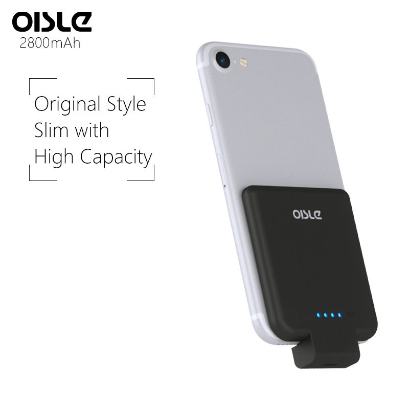 OISLE 2800mAh Battery Case For iPhone 8/7/6(s), Portable Power Bank Rechargeable External Backup 5 5s SE Battery Charger Case