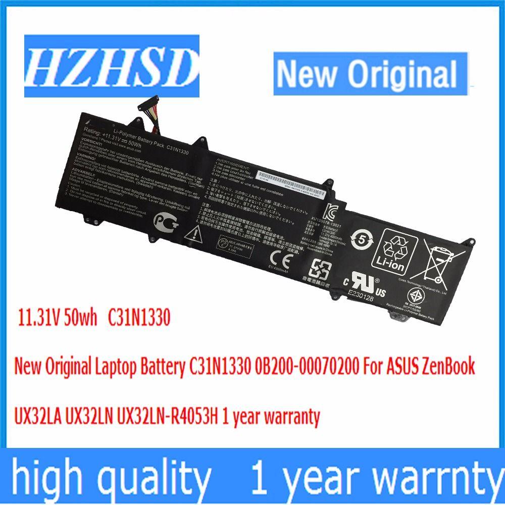 11.31V 50wh New Original C31N1330 Laptop Battery 0B200-00070200 For ASUS ZenBook UX32LA UX32LN UX32LN-R4053H