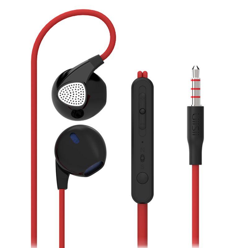 U1 RUKZ Auriculares Earpod con HD Micrófono de Alta Fidelidad para el Teléfono Móvil Universal Con Cable Estéreo de Auriculares DJ Auricular XBS BASS Auricular