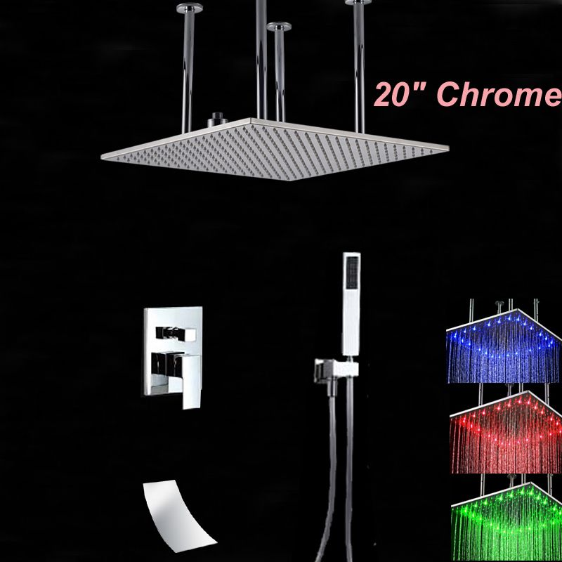 Wholesale And Retail LED Polished Chrome Square 20