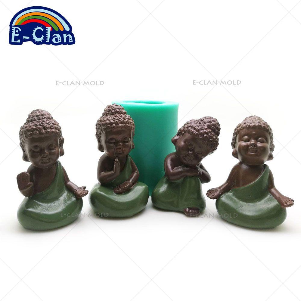 3D bouddha statu silicone moule à la main bouddha statue savon moule cuisson décoratif gâteau outils bougie S0485HS-S0488HS25