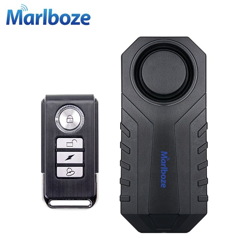 Marlboze Waterproof Remote Control Bike Motorcycle Electric Car Vehicle Security Anti Lost Remind Vibration Warning Alarm Sensor