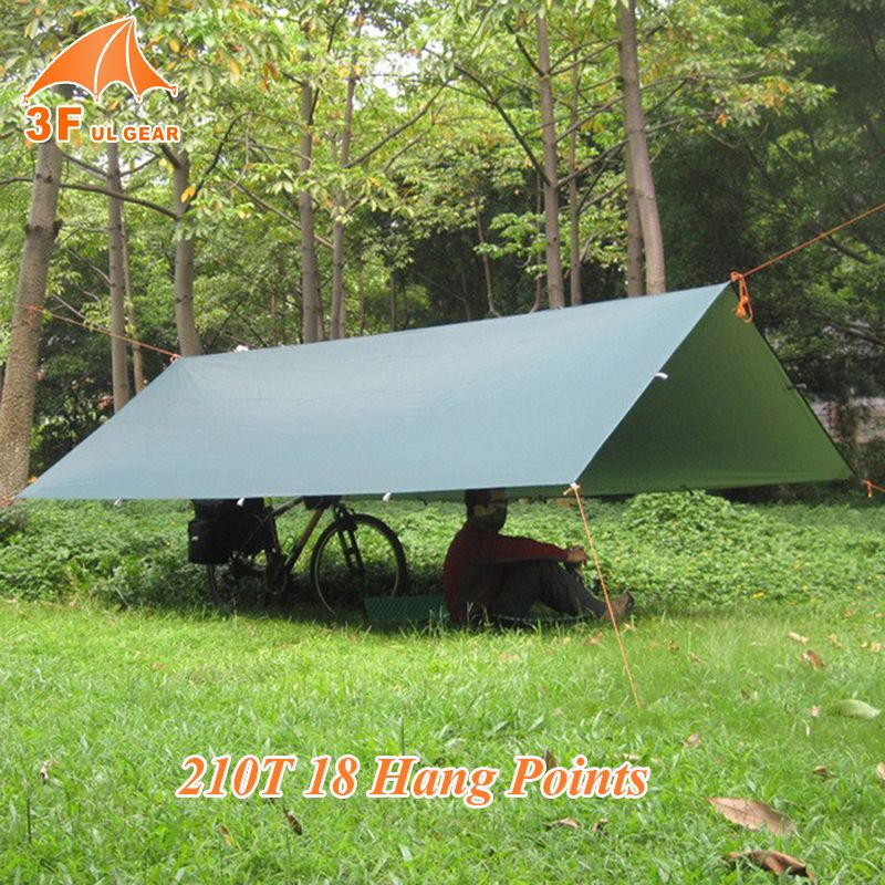 3F UL GEAR Ultralight Beach Sun Shelter Multifunction Tarp With Silver Waterproof Outdoor Camping C Tent Tarps Awning Shelter