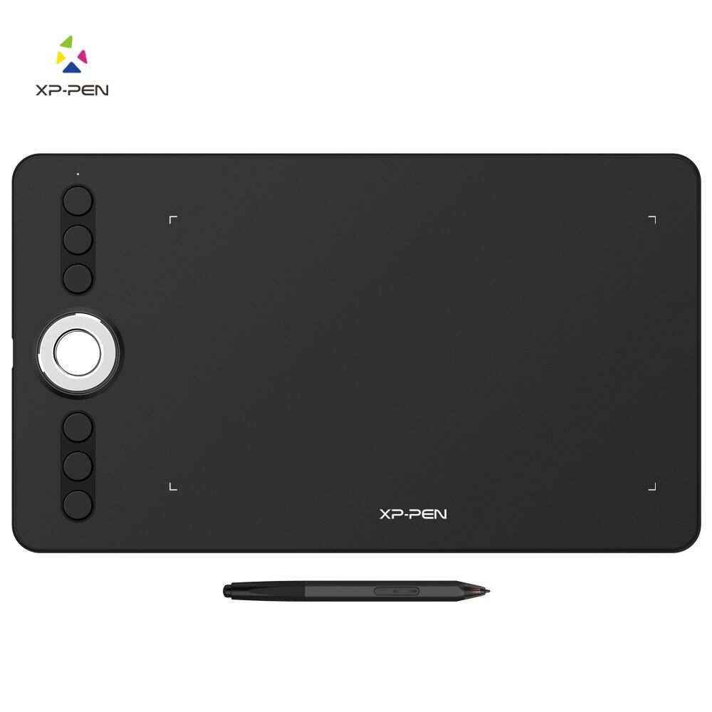 XP-Pen Deco 02 Graphics drawing Tablet Pen Tablet with P06 Battery-free Passive Stylus and shortcut keys (8192 levels pressure)