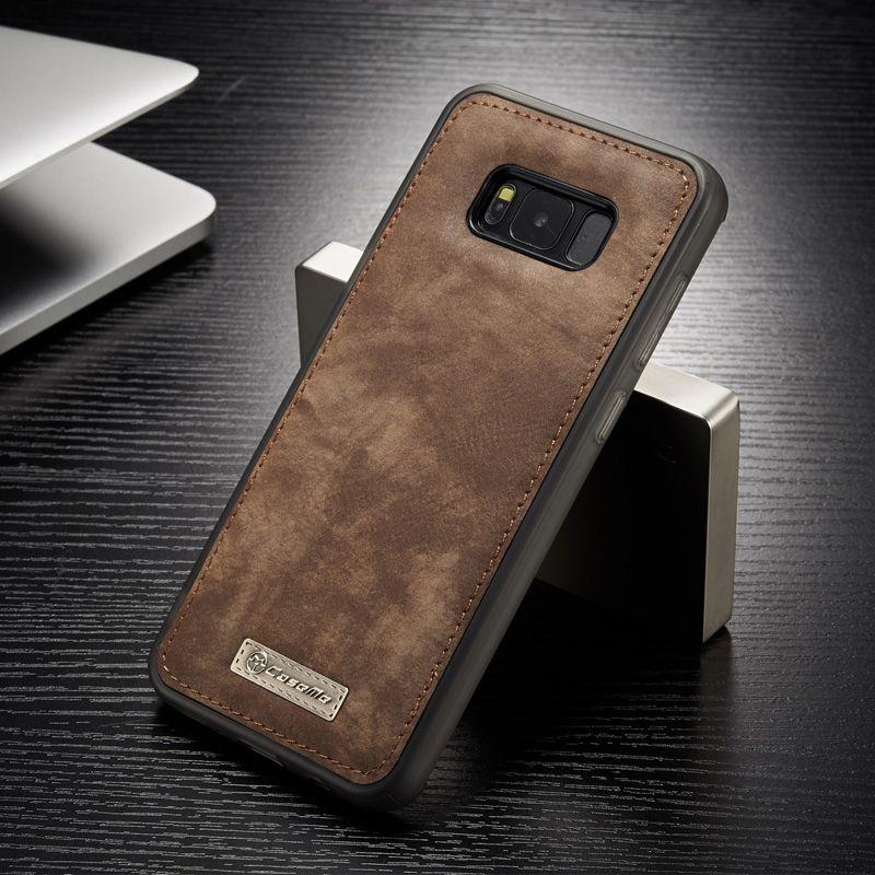 D'origine CaseMe Magnétique Vintage En Cuir + TPU Couverture Arrière de Silicium Cas Pour Samsung Galaxy S8/S8 Plus Téléphone cas Logement