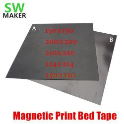 2018 New Magnetic Print Bed Tape square 150/200/214/220/250mm Print Sticker Build Plate Tape FlexPlate PLA DIY 3D Printer parts