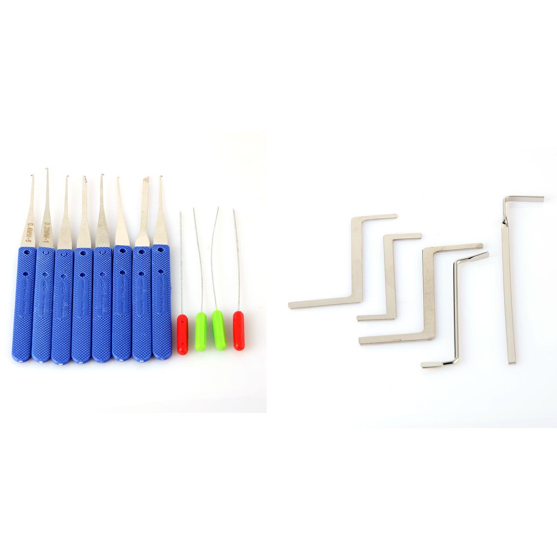 Schlosser Wert Zwei Set 5 stücke Wrenth Spannung Werkzeuge Und 12 stücke Klom Gebrochene Key Extractor Werkzeuge P00