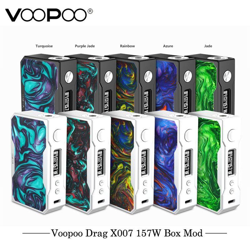 Original VOOPOO DRAG 157W TC Box MOD e cigarette 18650 box mod Vape with US GENE chip Temperature Control Resin mod VS Smok Mod