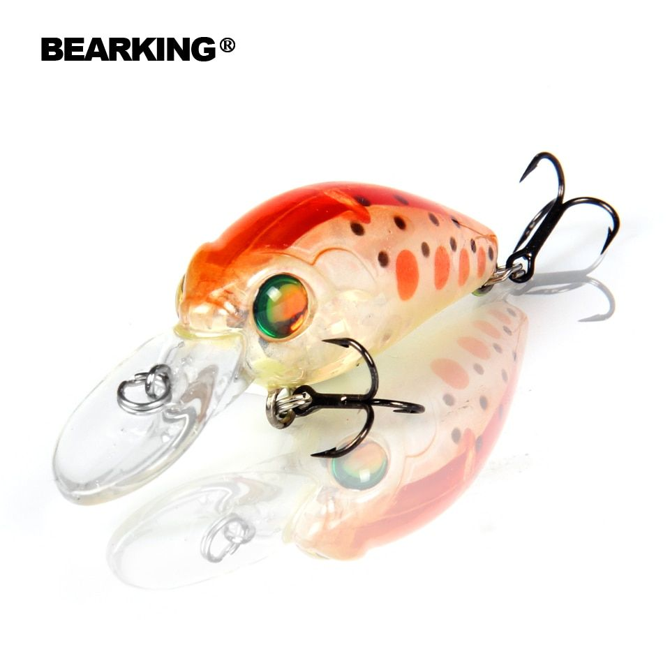 Bearking Heißer modell berufs EINE + angeln lockt, 10 farbe für wählen, elritze, kurbel 35mm 3,7g, dive 2,0 m angeln bewältigen harten köder