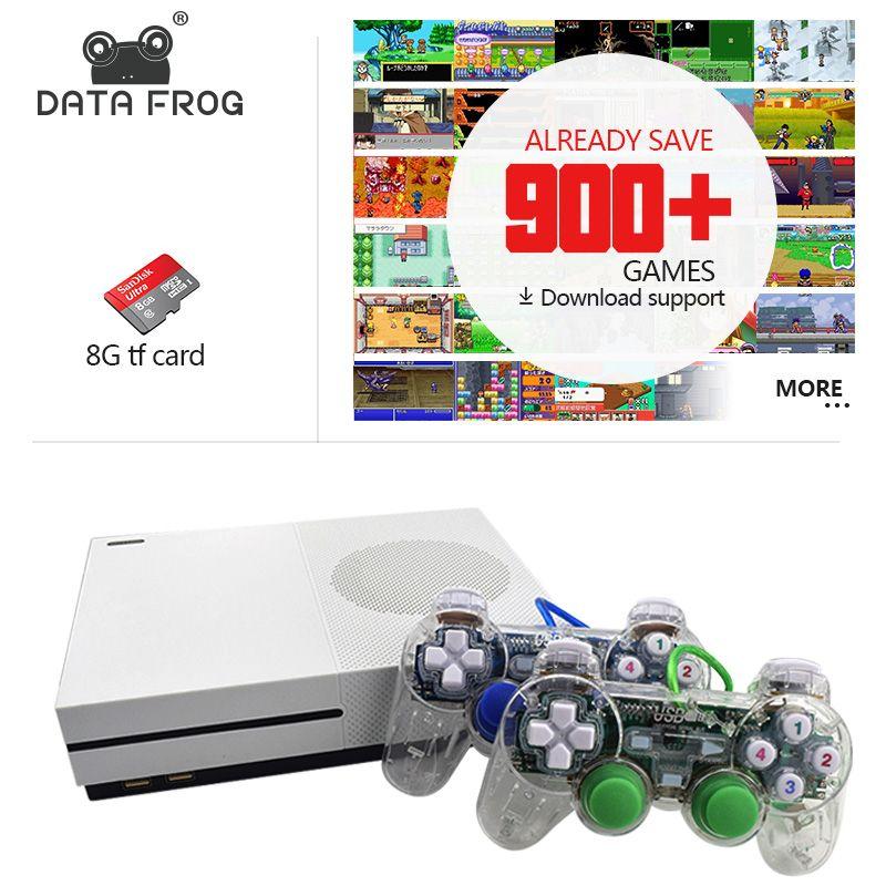 Данных лягушка Новинка 2017 года 4 ГБ игровой консоли ТВ консолей с 600 игр прозрачный геймпад Семья плеер для GBA/ neogeo/NES/SNES
