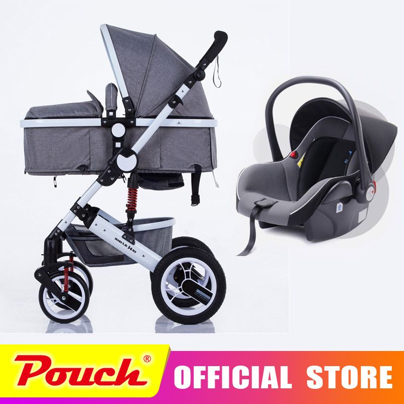 oley baby stroller high landscape can sit or lie shock winter children baby stroller with car seat free delivery to Russia