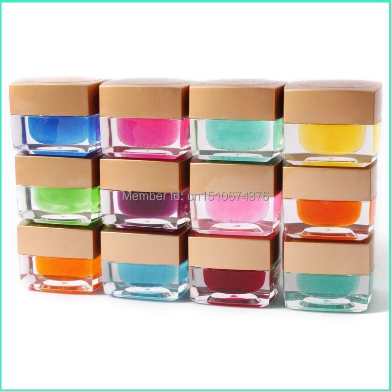 Haute qualité 3D 12 couleurs solide glaçure UV Gel vernis à ongles Art lampe stylo constructeur Design décoration 8 ml