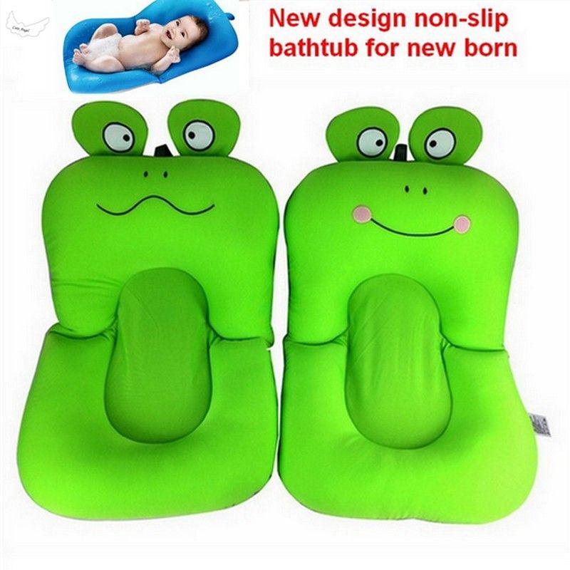 frog design Foldable Baby bath tub, BATHTUB pad & chair & shelf newborn baby bath seat infant bathtub support blooming bath mat