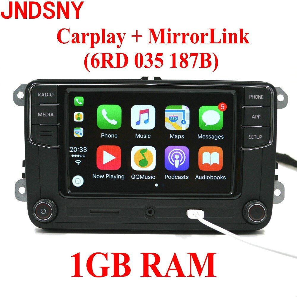 JNDSNY RCD330G CarPlay RCD330 Plus CarPlay Car Radio For VW Tiguan Golf 5 6 Jetta MK5 MK6 Passat Polo Touran 6RD 035 187B