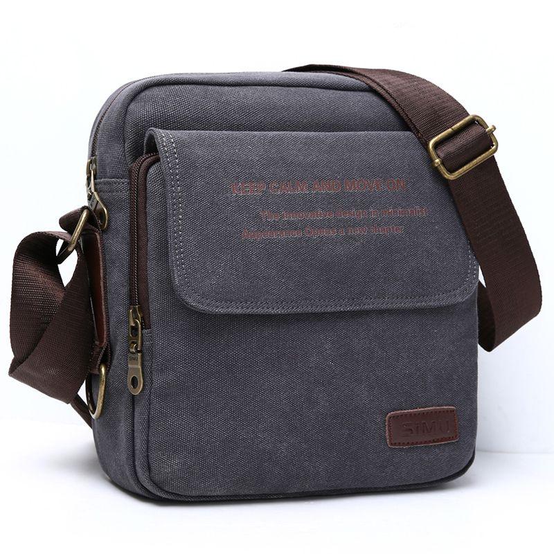 Homme urbain quotidien sac de transport de haute qualité hommes toile sac à bandoulière décontracté voyage hommes sac à bandoulière homme Messenger sacs 3 taille