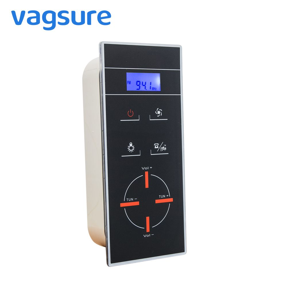 Vagsure LCD Display Induction Freehand Telephone Shower Room Control Panel Shower Radio Controller Enclosure Cabin Accessories