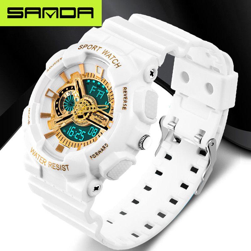 Nouvelle marque SANDA montre de mode pour hommes LED montre numérique G extérieure multi-fonction étanche montre de sport militaire relojes hombre