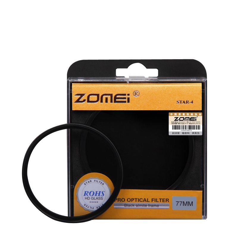 ZOMEI Star filter +4 Points + 6 Points + 8 Points for Canon Nikon DSLR Camera Lens 52/55/58/62/67/72/77/82mm