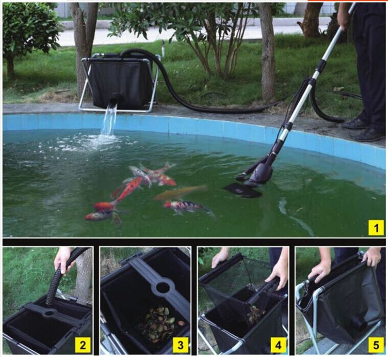 swimming pool cleaner fish pond skimmer fish feces floating trash cleaning machine 135w 8500L/h more power saving than vacuum