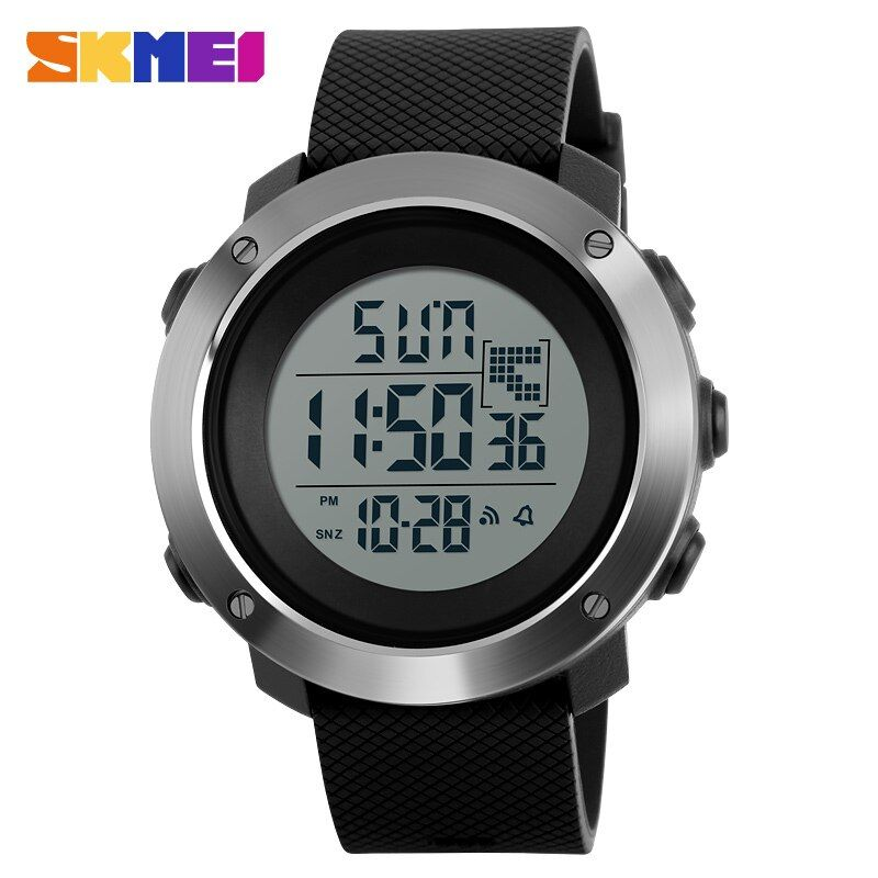 SKMEI Men Sports Watches Chrono Double Time Digital Wristwatches 50M Water Resistant LED <font><b>Display</b></font> Watch Relogio Masculino 1268