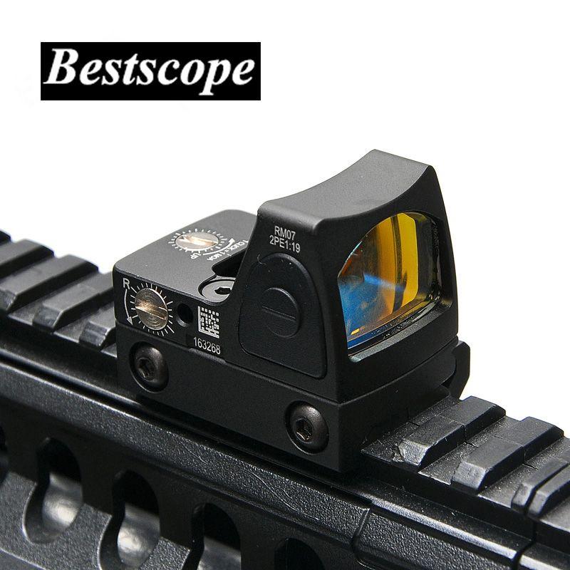 Trijicon Mini RMR Red Dot Sight Collimator Glock / Rifle Reflex Sight Scope fit 20mm Weaver Rail For Airsoft / Hunting Rifle
