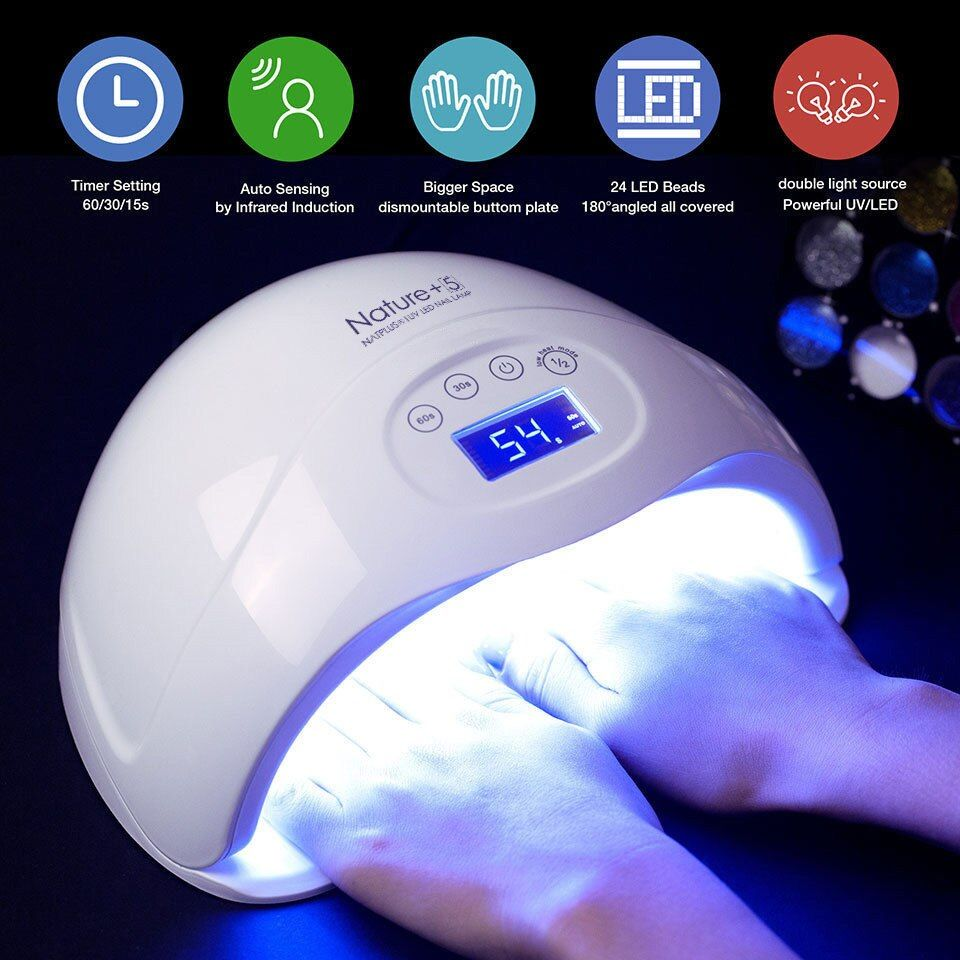 Modelones Nail Dryer 48W LED UV Lamp Nail Dryer Fingernail Gel Curing Manicure Machine Nail Art Salon Tool For Nail Gel