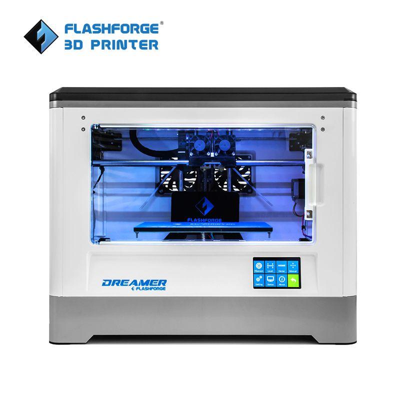 Flashforge 3D Drucker 2018 FDM Träumer Dual farbe drucken WIFI und touchscreen W/2 Spool Komplett Montiert 3D Drucker