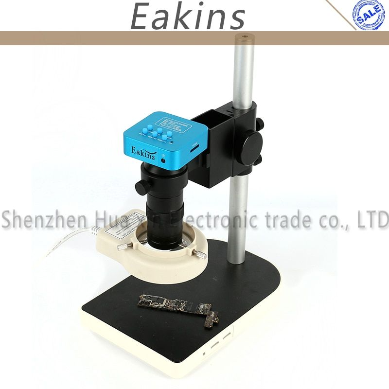 16MP 60FPS HDMI USB Output Industrial Microscope Camera +100X Lens 56LED light Support TF Storage Picture Wireless Control
