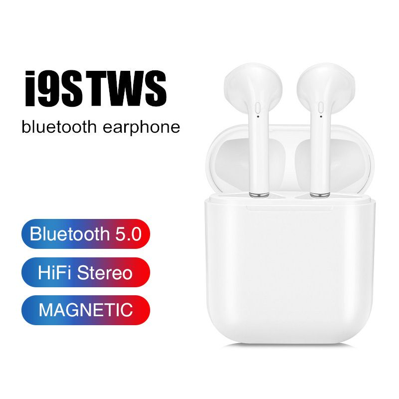 2019 Ture I9S Tws Dropshipping Bluetooth 5.0 Earphones Earbuds Mini Bass Wireless Headset Earpieces For Xiaomi All Smart Phone