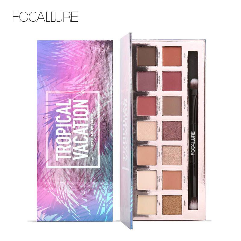 Focallure 14 <font><b>Colors</b></font> Pro Makeup Glitter Eyeshadow Shimmer Eye Shadow Pigment Beauty Makeup Shadow