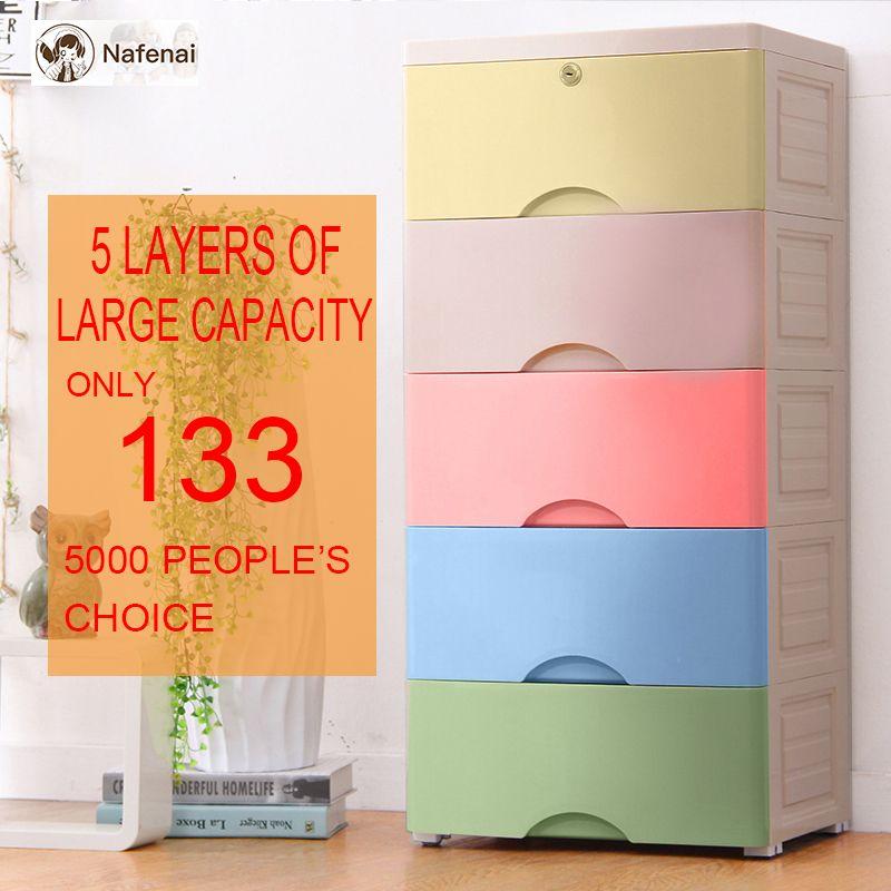 Kunststoff veranstalter schublade 5 schichten schubladen für kleidung veranstalter lagerung box für spielzeug schublade kunststoff schublade organizer in schlafzimmer