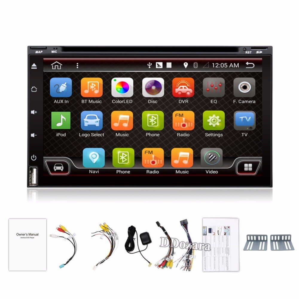 Quad Core Car Electronic autoradio 2din android 6.0 car dvd player stereo GPS Navigation WIFI+Bluetooth+Radio+3G+TV (Option)